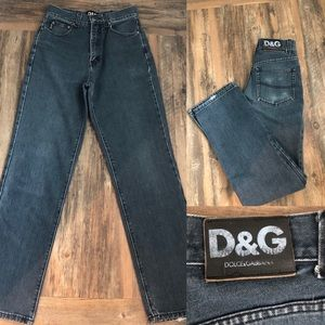 RARE! 80's vintage D&G super high waisted mom jean